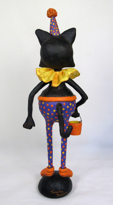Halloween Clown Cat back