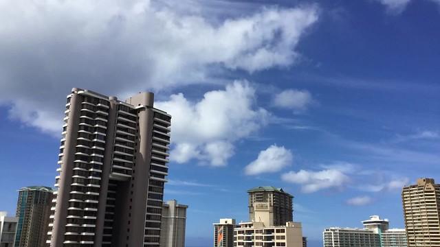 Mid-morning in Waikiki