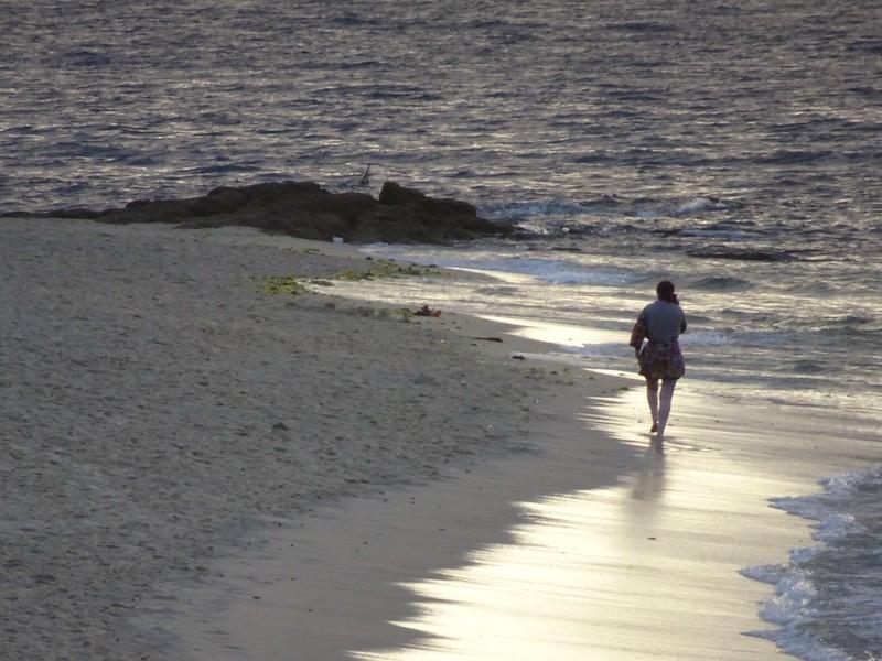 Playa y teléfono