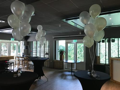 Tafeldecoratie 7ballonnen Restaurant Pex Den Haag