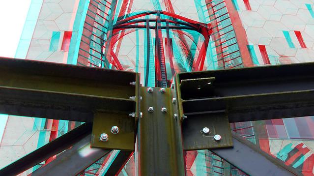 Bijenkorfconstructie by NAUM GABO  Coolsingel Rotterdam 3D