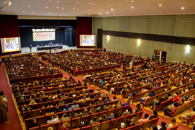Assembleia do Sindicato dos Municipários de Porto Alegre.