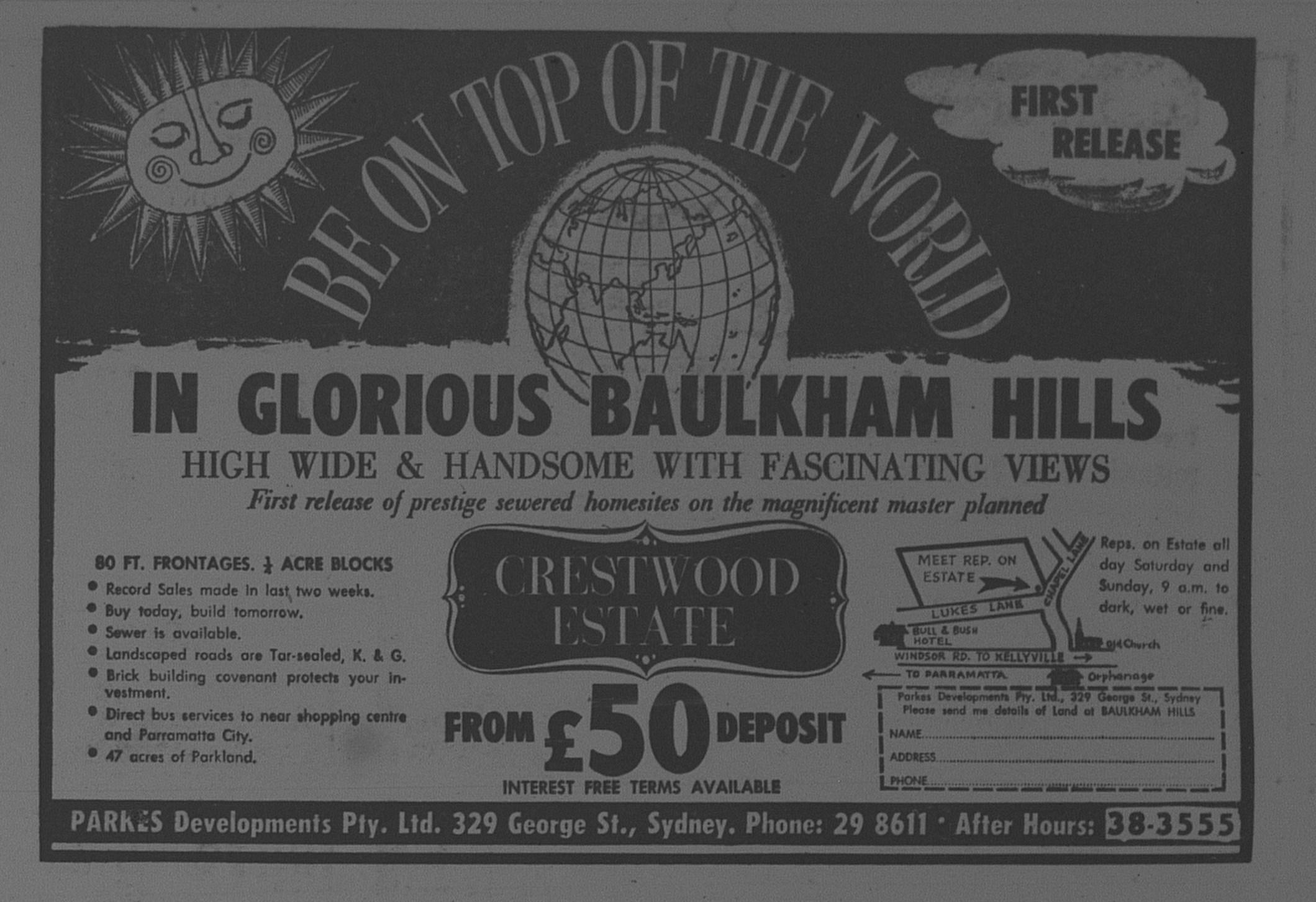 Crestwood Estate Baulkham Hills Ad October 7 1966 The Sun 47