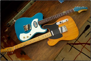 Fano Alt de Facto TC6 and Rick Kelly Bowery Pine Tele, August 10, 2017