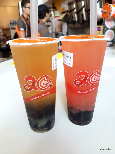Lemon Winter Melon Juice, Fresh Grapefruit Green Tea