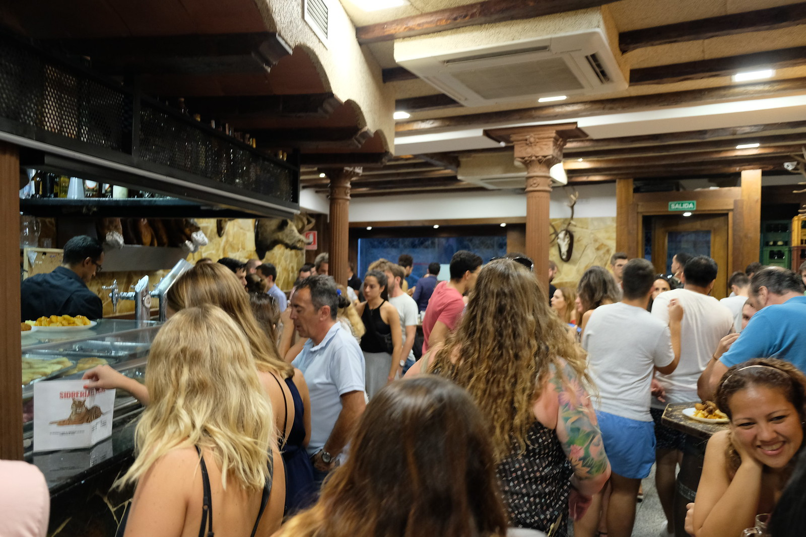 Inside Sidreria el Tigre | Madrid Itinerary