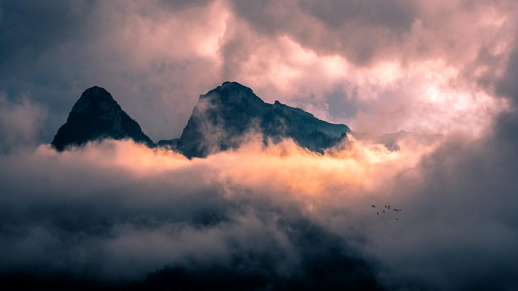 Sunset on the Bucegi mountains, Romania picture
