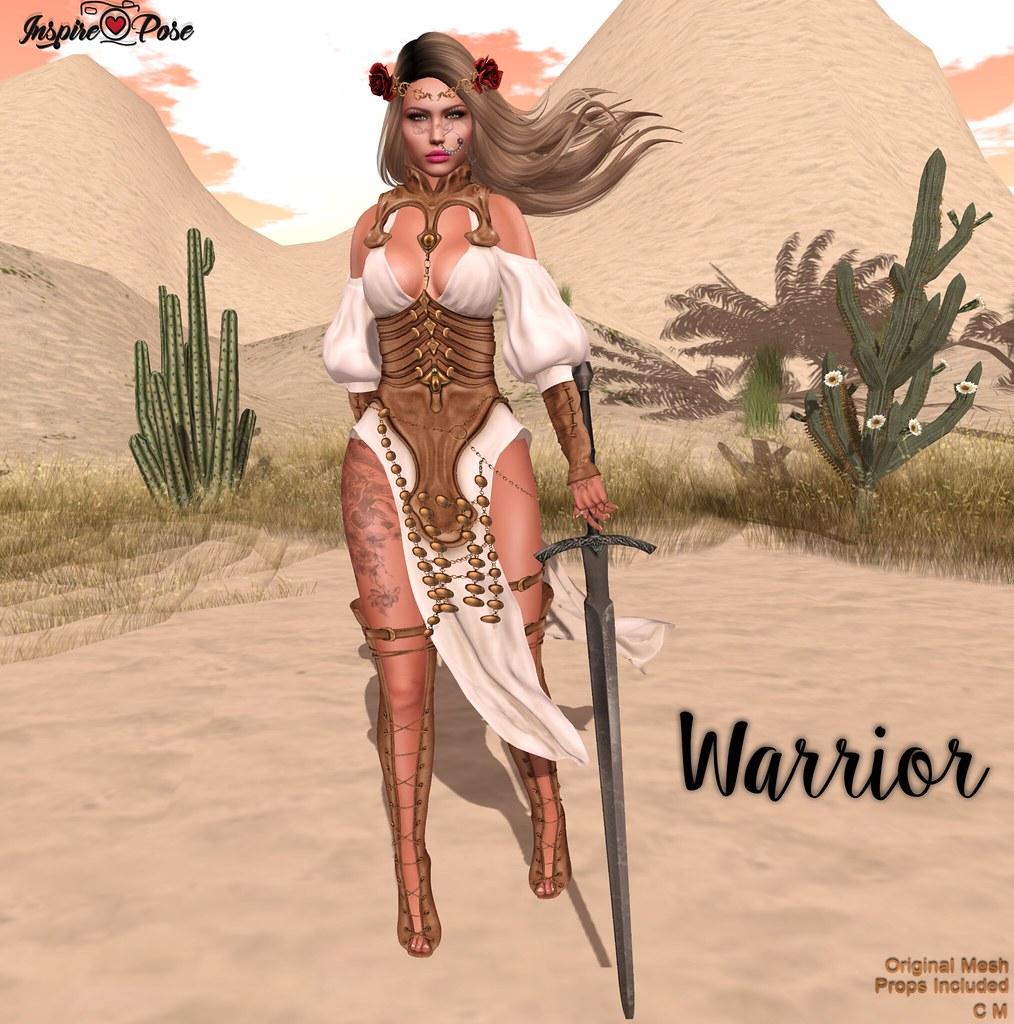 Inspire Pose - Warrior - SecondLifeHub.com