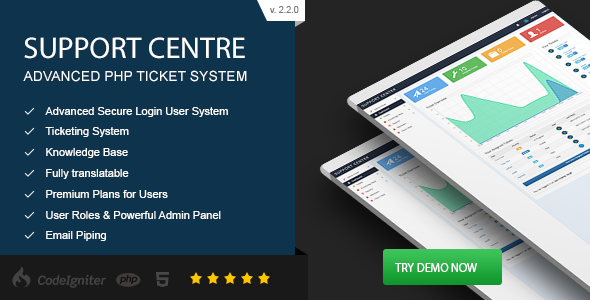 Support Centre v2.2.0 – Advanced PHP Ticket System