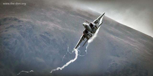 F-15 Eagle banking hard