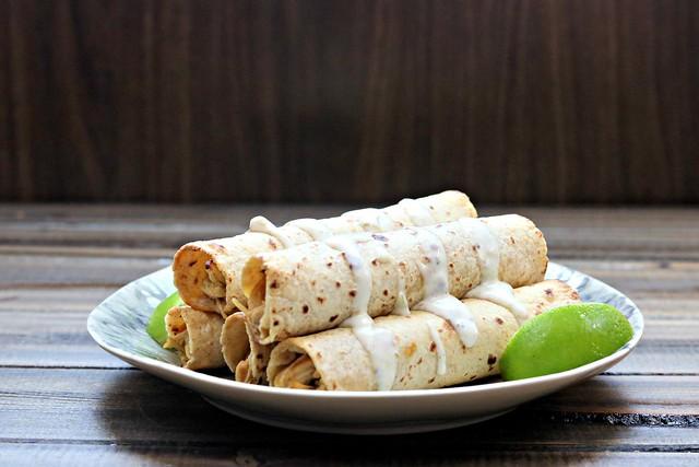 Creamy Chicken Taquitos front