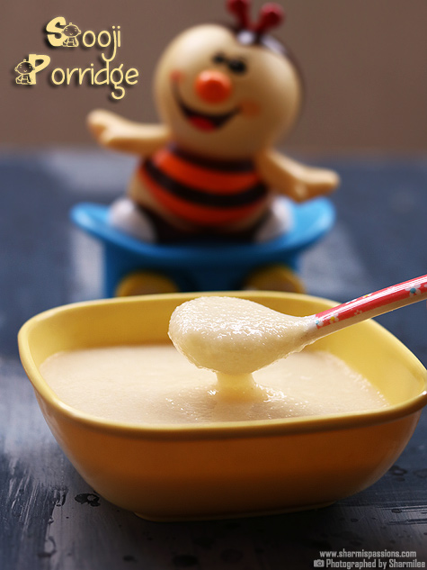 Sooji porridge recipe for babies