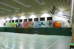 School gym - Right side - by WIZ ART