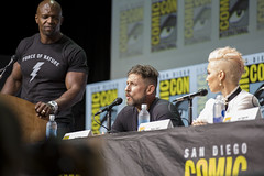 Moderator Terry Crews, David Ayer and Noomi Rapace