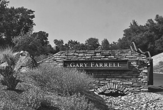 Gary Farrell Winery - Sign bw