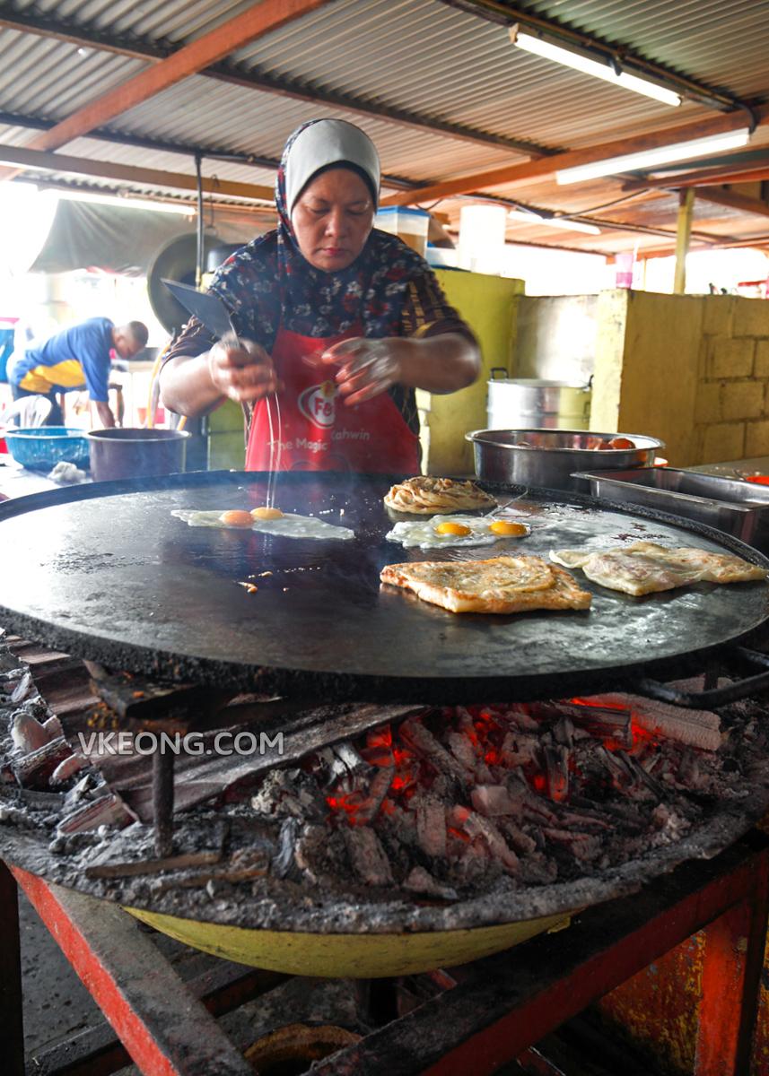 Roti Canai Stall Melaka Roti Canai Kayu Arang