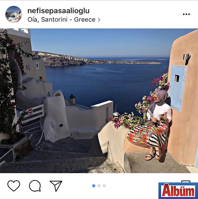 Nefise Paşaalioğlu, Yunanistan'dan paylaştığı bu fotoğraf ile beğeni topladı.