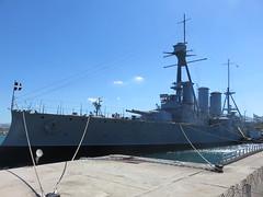 Royal Hellenic Navy Gregorios Averof Modified Pisa Class Cruiser Piraeus Greece
