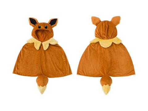 《精靈寶可夢》穿著進化型披風的伊布(進化形のポケモンたちのポンチョを着たイーブイのグッズ)【寶可夢中心限定】