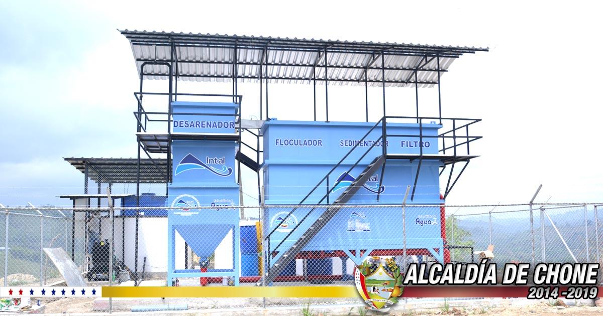En pocos días entrará en funcionamiento planta de agua de Chibunga