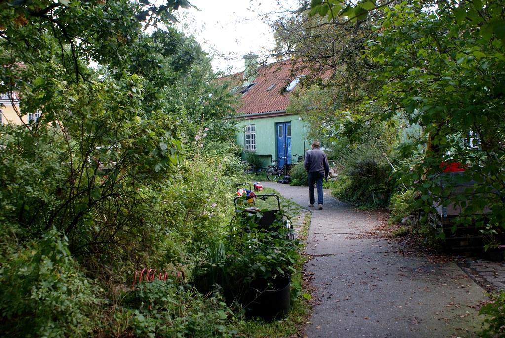 Ancienne caserne dans le quartier de Christiania à Copenhague.