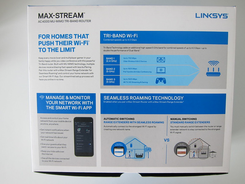 Linksys EA9300 - Box Back
