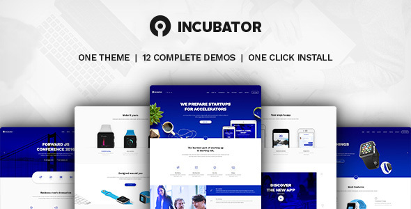 Incubator v1.4 – WordPress Startup Business Theme