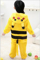 Pikachu Open Mouth Cosplay Mascot Costume for Kids
