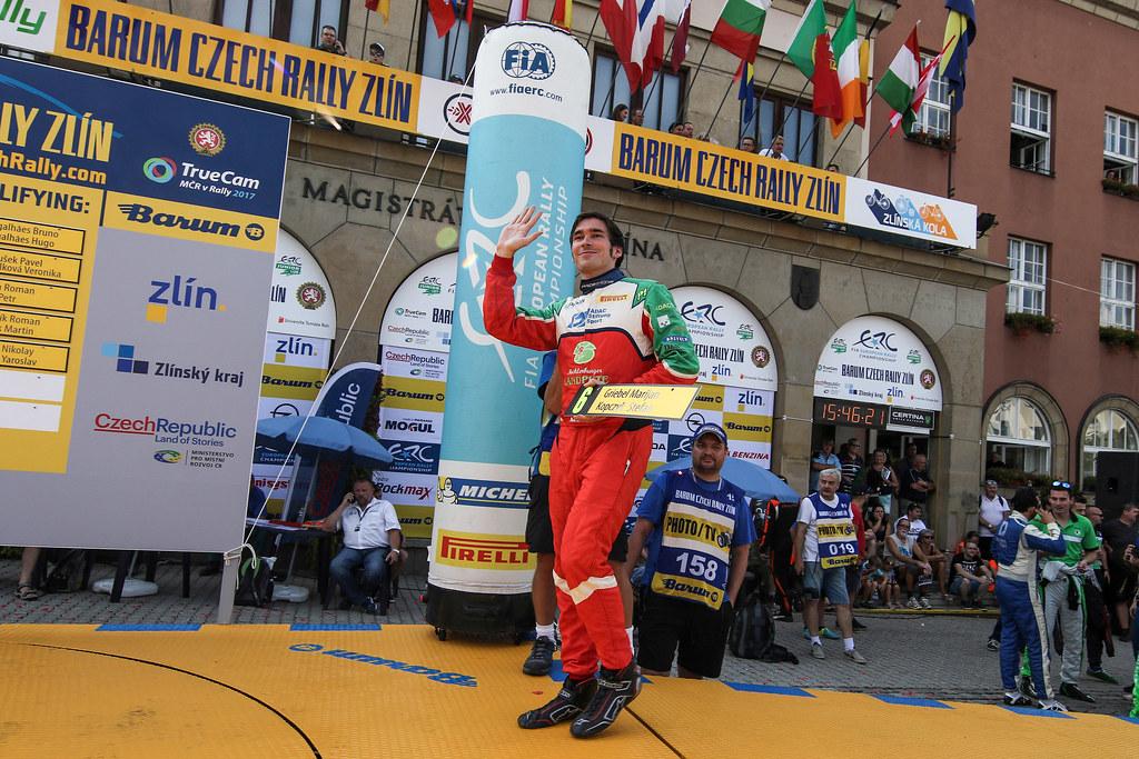 06 GRIEBEL Marijan (DEU) KOPCZYK Stefan (DEU) Skoda Fabia R5 start order selection. during the 2017 European Rally Championship ERC Barum rally,  from August 25 to 27, at Zlin, Czech Republic - Photo Jorge Cunha / DPPI