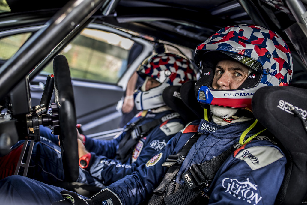 MARES Filip (CZE) HLOUSEK Jan (CZE) Peugeot 208 R2 ambiance portrait during the 2017 European Rally Championship ERC Barum rally,  from August 25 to 27, at Zlin, Czech Republic - Photo Gregory Lenormand / DPPI