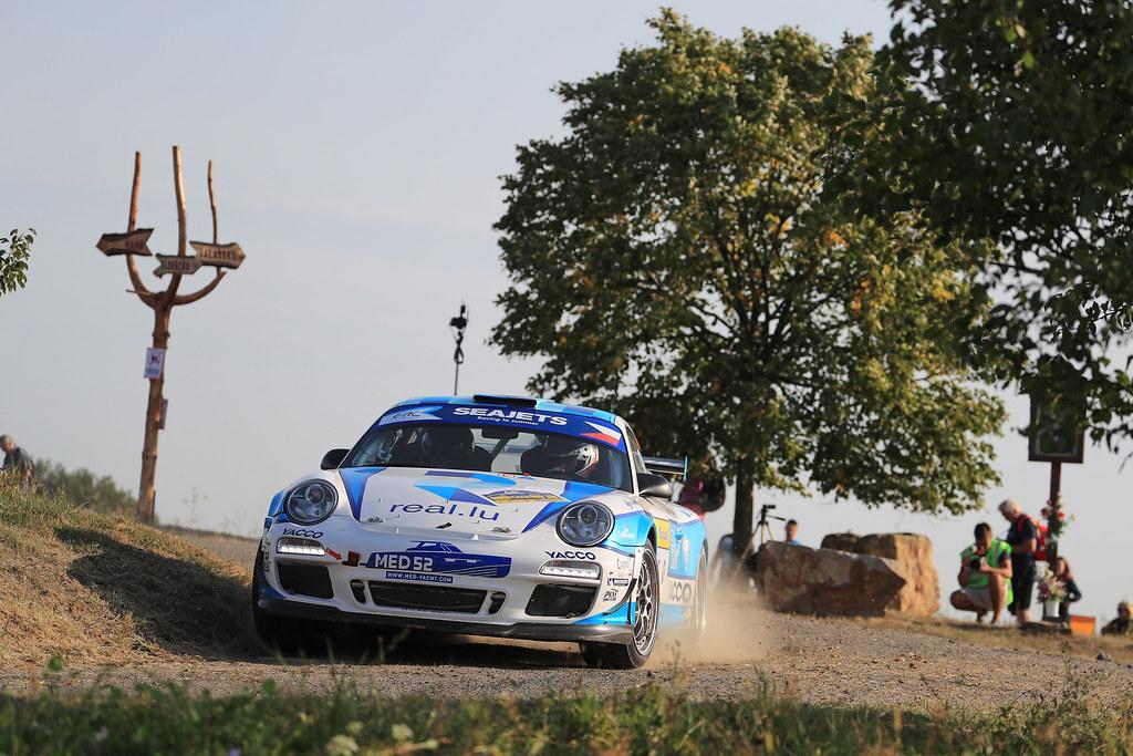 30 DUMAS Romain (FRA) GIRAUDET Denis (FRA) Porsche 997 GT3 action during the 2017 European Rally Championship ERC Barum rally,  from August 25 to 27, at Zlin, Czech Republic - Photo Jorge Cunha / DPPI