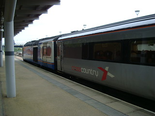 East Midlands Trains loco 43043 on CrossCountry service at Derby station