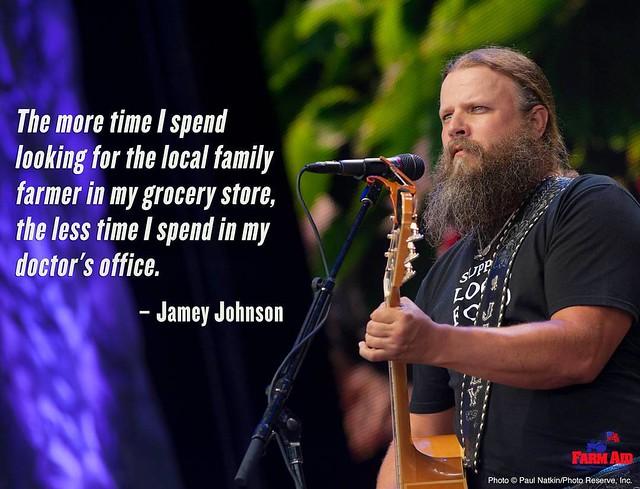 Words of #WednesdayWisdom from #jameyjohnson. Eating good food from family farmers will make both you and your doctor happy! Watch Jamey and the rest of the #FarmAid2017 lineup on @axstv and farmaid.org on September 16!