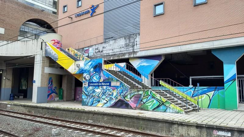 Louvain-la-Neuve station, near Brussels
