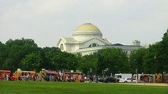 Washington D.C.:  Smithsonian Natural Museum -  many Food trucks on the ways along National Mall are typical for sunny weekends