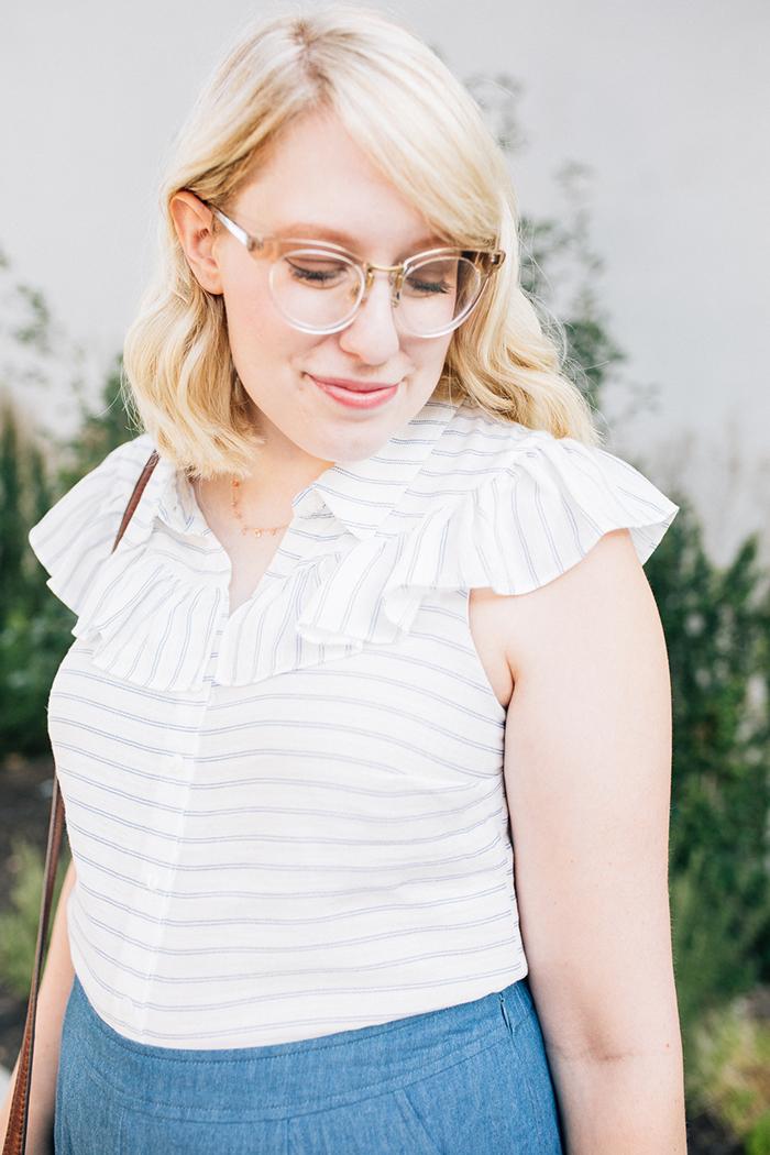 austin fashion blog writes like a girl modcloth chambray culottes16