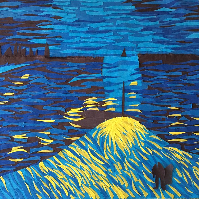 Van Gogh: brushstrokes in progress