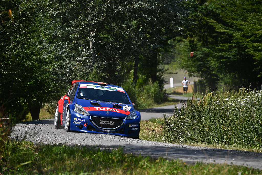 06 LOPEZ Jose Maria (ESP) ROZADA Borja (ESP) Peugeot 208 T 16 action during the 2017 European Rally Championship Rally Rzeszowski in Poland from August 4 to 6 - Photo Wilfried Marcon / DPPI