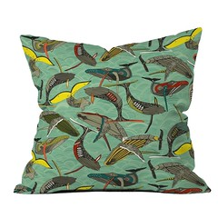 whales and waves DENY throw pillow