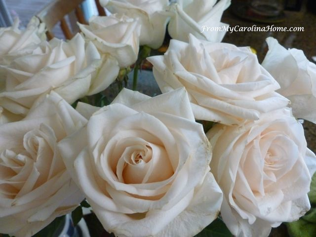 White Roses at From My Carolina Home