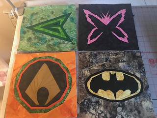 Superheroes: Green Arrow, Psylocke, Aquaman, Batman
