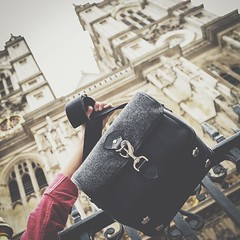 Hanging out at Westminster Abbey. So much history here. Accompanied by our Small Sloane Street camera bag.