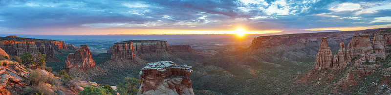 Colorado National Monument Sunrise Pano