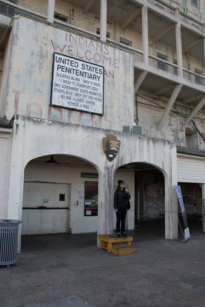 Guide at Alcatraz Island