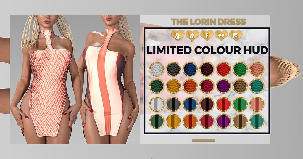 #LIMIT8 (TheLorinDress) LIMITED Colour Hud - SecondLifeHub.com