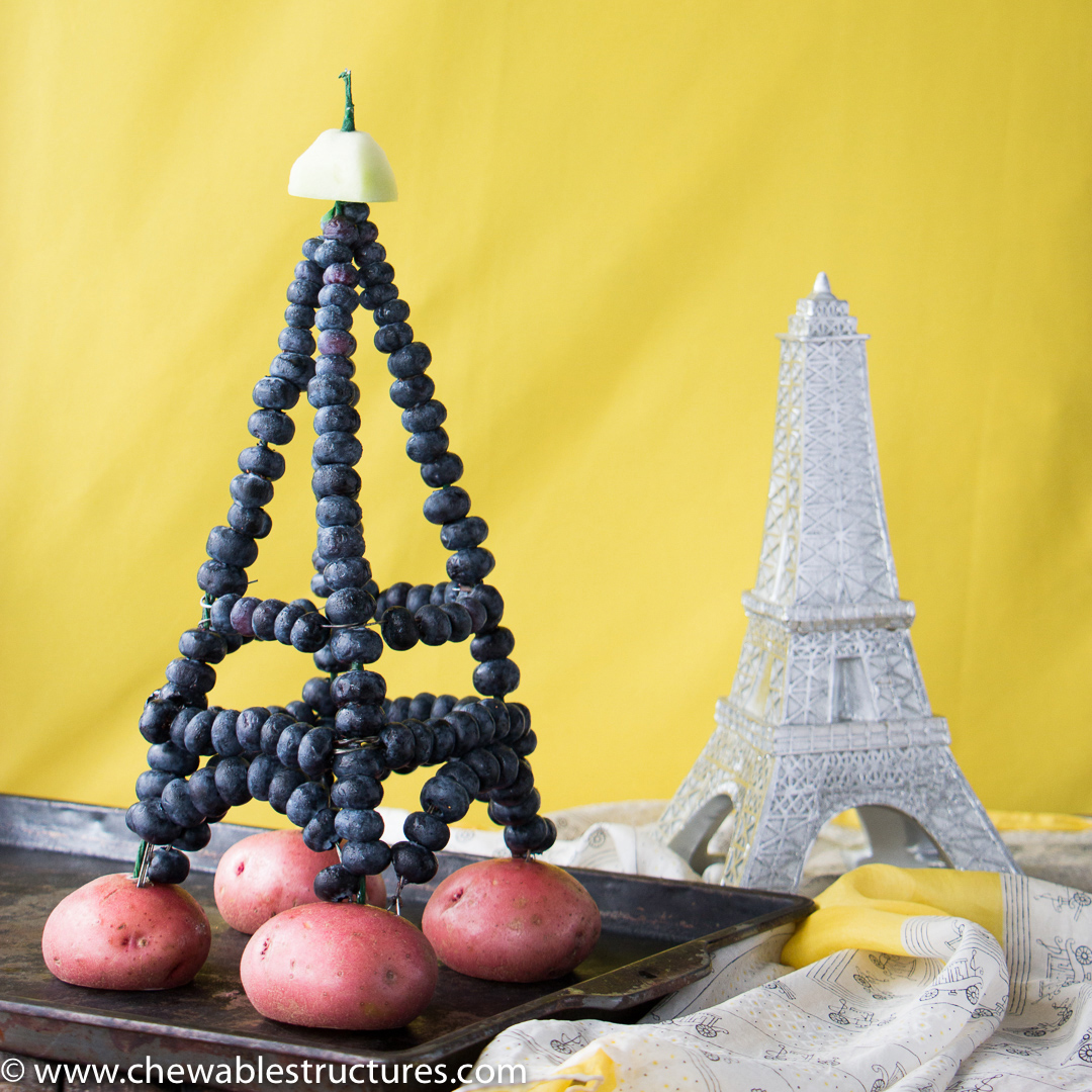 How To Make Eiffel Tower Using Fresh Blueberries