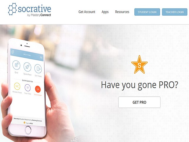 Socrative Landing Page