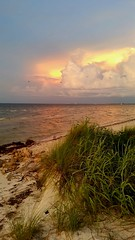 Calm before the storm. Sunset on Anna Maria Island before a thunderstorm.