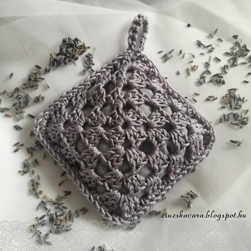 crochet, lavender, sachet, levendulapárna (2)