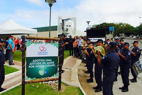 Salvador - Colégio  Dom Bosco - Escultura do Bicentenário